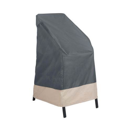 """Renaissance Ultralite Outdoor Stackable Patio Chair Cover, 27""""L x 27""""W x 49""""H, Gray"""