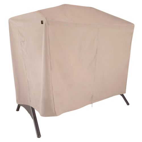 """Chalet Outdoor 2-Seat Patio Canopy Swing Cover, 87""""L x 64""""W x 66""""H, Beige"""