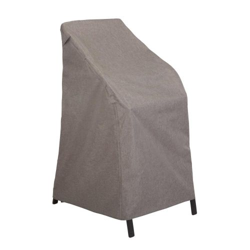 """Garrison Waterproof Outdoor Stackable Patio Chair Cover, 27""""L x 27""""W x 49""""H, Heather Gray"""