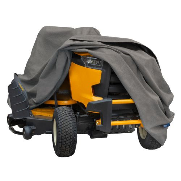 "Garrison Waterproof Zero-Turn & Riding Lawnmower Cover, Fits Decks up to 62"", 82""L x 50""W x 47""H, Heather Gray"