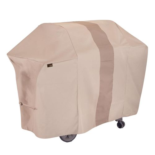"""Monterey 65 in. Outdoor Patio Grill Cover, 65""""L x 25""""W x 44.5""""H, Beige"""