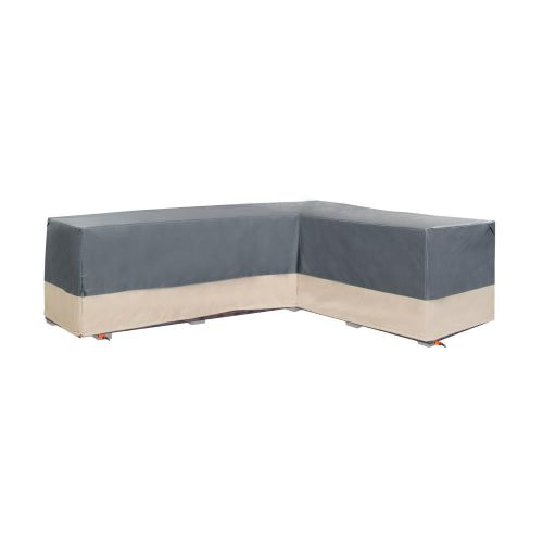 """Renaissance Ultralite Outdoor Patio Sectional Lounge Set Cover, Right Facing, 104""""L x 83""""L x 32""""W x 31""""H, Gray"""