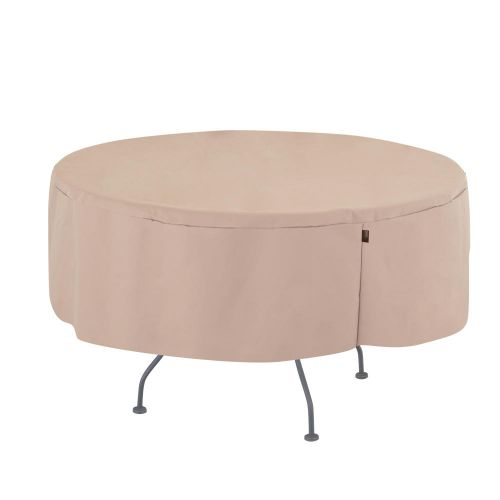 """Chalet Round Patio Dining Table Cover, 50"""" Dia x 25""""H, Beige"""
