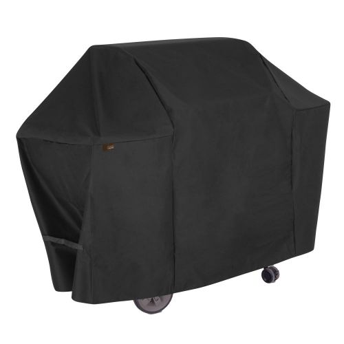 """Chalet 58 in. Outdoor Patio Grill Cover, 58""""L x 25""""W x 44.5""""H, Black"""