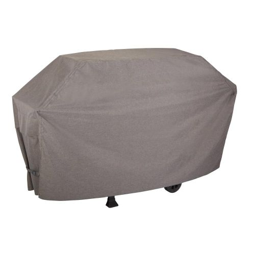 """Garrison 73 in. Waterproof Outdoor Patio Grill Cover, 73""""L x 25""""W x 44.5""""H, Heather Gray"""