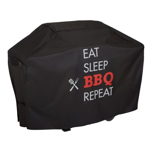 """Chalet 62 in. Outdoor Patio Grill Cover, 62""""L x 25""""W x 46""""H, Black"""