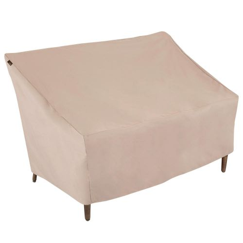 """Chalet Outdoor Patio Loveseat Cover, 57.5""""L x 38""""W x 38""""H, Beige"""
