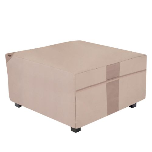"""Monterey Outdoor Patio Fire Pit Table Cover, 42""""L x 42""""W x 22""""H, Beige"""