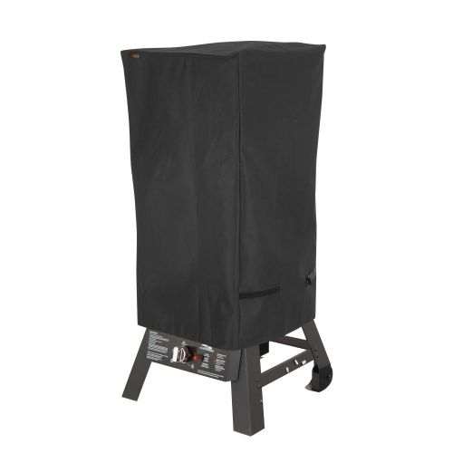 """Chalet Square Outdoor Patio Grill Smoker Cover, 18.5""""L x 17""""W x 34""""H, Black"""