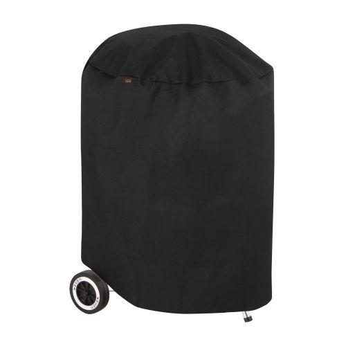 """Chalet Round Outdoor Patio Charcoal Grill Cover, 27"""" Dia x 40""""H, Black"""