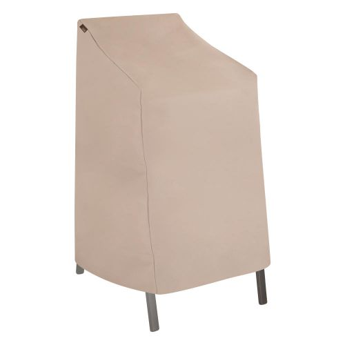 """Chalet Outdoor Stackable Patio Chair Cover, 27""""L x 27""""W x 49""""H, Beige"""