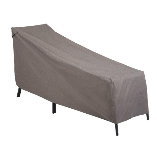 """Garrison Waterproof Outdoor Patio Chaise Lounge Cover, 65""""L x 28""""W x 29""""H, Heather Gray"""