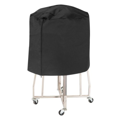 """Monterey Outdoor Ceramic Charcoal Patio Grill Cover, 45"""" Dia x 25""""H, Black"""