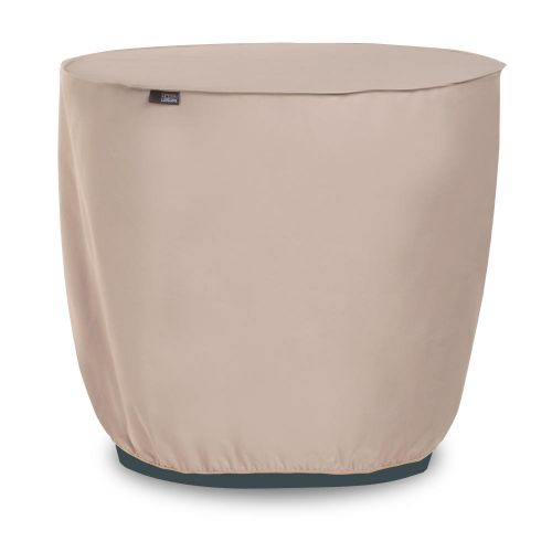"""Chalet Round Outdoor Patio Air Conditioner Cover, 34"""" Dia x 30""""H, Beige"""