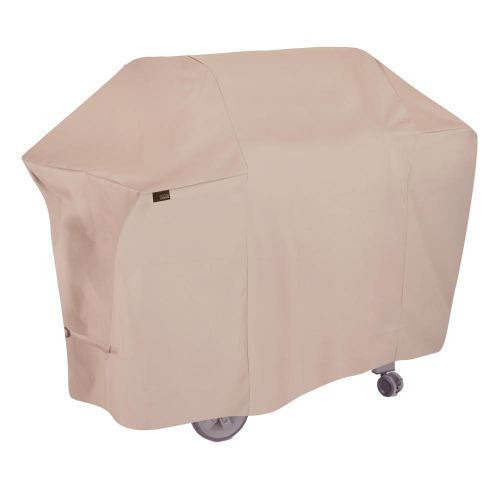 """Chalet 65 in. Outdoor Patio Grill Cover, 65""""L x 25""""W x 44.5""""H, Beige"""