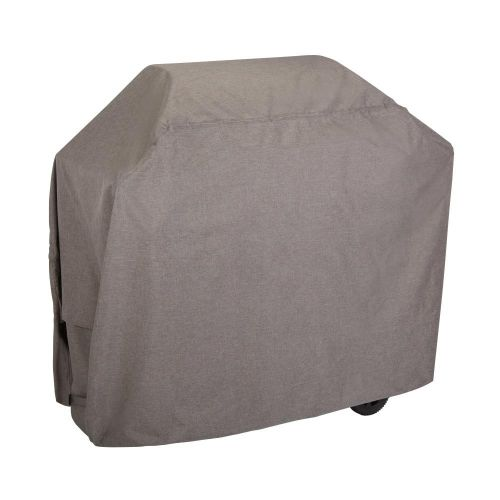 """Garrison 65 in. Waterproof Outdoor Patio Grill Cover, 65""""L x 25""""W x 44.5""""H, Heather Gray"""
