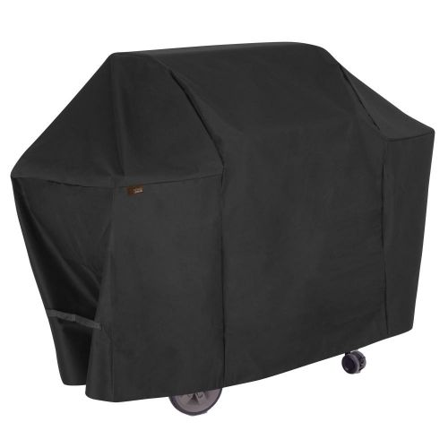 """Chalet 65 in. Outdoor Patio Grill Cover, 65""""L x 25""""W x 44.5""""H, Black"""