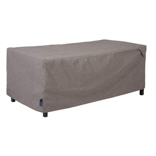 """Garrison Waterproof Outdoor Patio Coffee Table/Ottoman Cover, 48""""L x 25""""W x 18""""H, Heather Gray"""