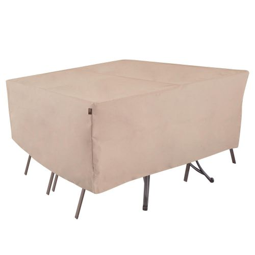 """Chalet Rect/Oval Patio Table & Chair Set Cover, 80""""L x 60""""W x 30""""H, Beige"""