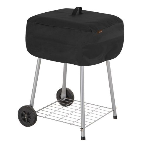 """Chalet Outdoor Patio Walk-A-Bout Charcoal Grill Cover, 21.5""""L x 21.5""""W x 14.5""""H, Black"""
