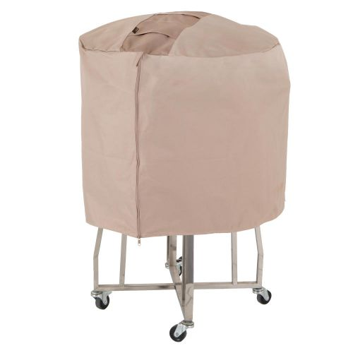 """Monterey Outdoor Ceramic Charcoal Patio Grill Cover, 44.5"""" Dia x 25""""H, Beige"""