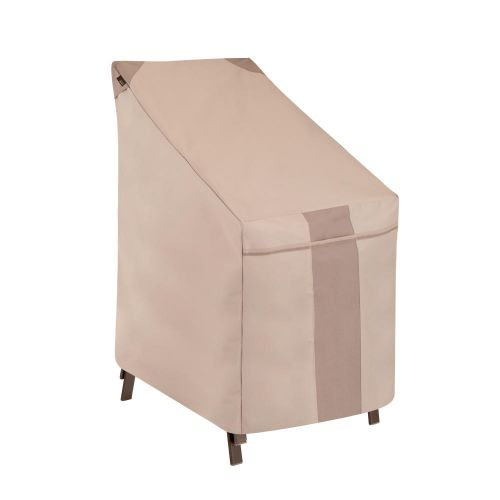 """Monterey Outdoor High Back Patio Chair Cover, 25.5""""L x 35.5""""W x 34""""H, Beige"""