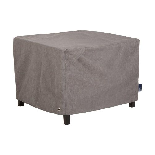 """Garrison Waterproof Square Fire Pit Table Cover, 42""""L x 42""""W x 22""""H, Heather Gray"""