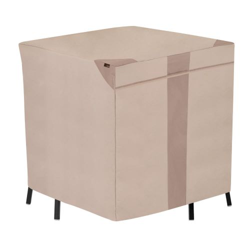 """Monterey Outdoor Patio Bar Table & Chair Set Cover, 66""""L x 64""""W x 34""""H, Beige"""