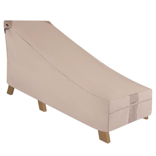 """Monterey Outdoor Patio Day Chaise Lounge Cover, 78""""L x 35.5""""W x 33""""H, Beige"""